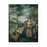 Moses rescató del Nilo, 1580 (el aceite en lona) Tarjetas Postales