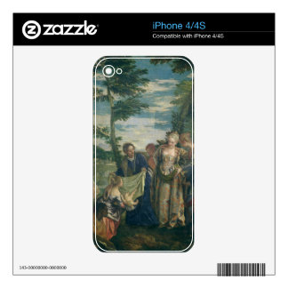 Moses Rescued from the Nile 1580 oil on canvas iPhone 4 Decals