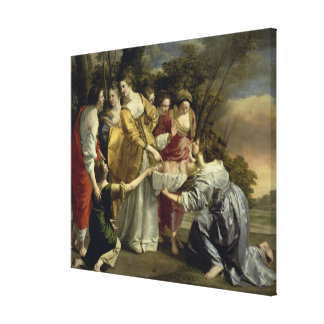 Moses Rescued from the Nile, c.1630 Canvas Print