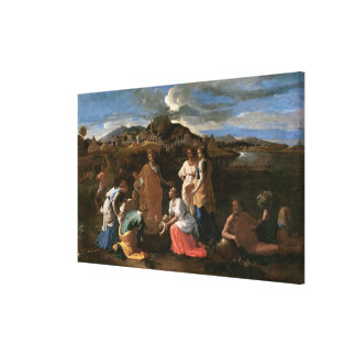 Moses Rescued from the Water, 1647 Canvas Print