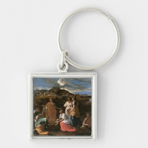 Moses Rescued from the Water, 1647 Key Chain