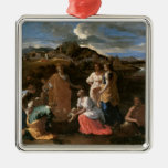 Moses Rescued from the Water, 1647 Metal Ornament