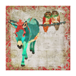Moses Ruby Rose Owls Art Canvas