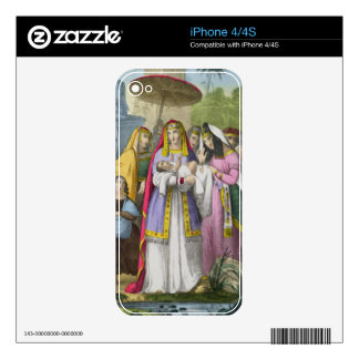 Moses Saved by Pharaoh s Daughter from a bible pr iPhone 4S Skins
