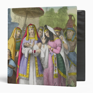Moses Saved by Pharaoh's Daughter, from a bible pr Vinyl Binders