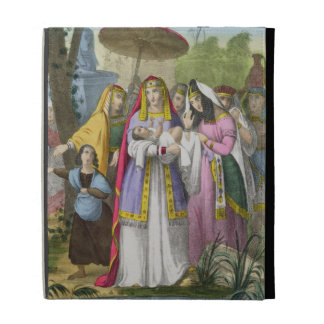 Moses Saved by Pharaoh's Daughter, from a bible pr iPad Case