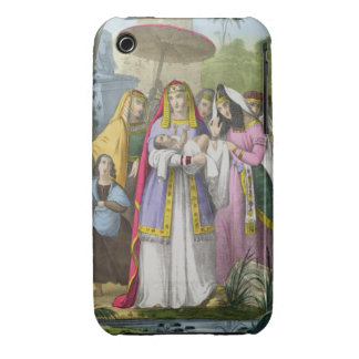 Moses Saved by Pharaoh's Daughter, from a bible pr iPhone 3 Case-Mate Case