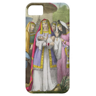 Moses Saved by Pharaoh's Daughter, from a bible pr iPhone SE/5/5s Case