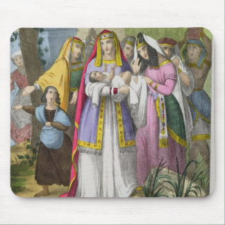 Moses Saved by Pharaoh's Daughter, from a bible pr Mouse Pad