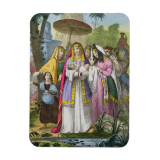 Moses Saved by Pharaoh's Daughter, from a bible pr Rectangular Magnet