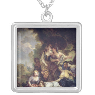 Moses Saved from the Water Square Pendant Necklace