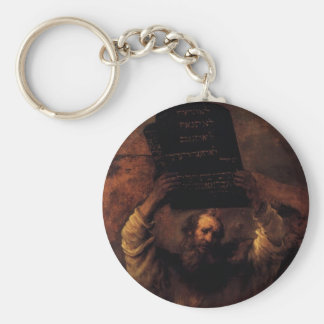 Moses Smashing the Tablets of the Law Keychain