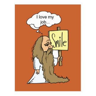 Moses smile card postcard
