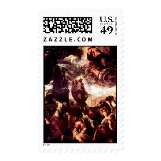 Moses smote the rock in Horeb & water came out Stamp