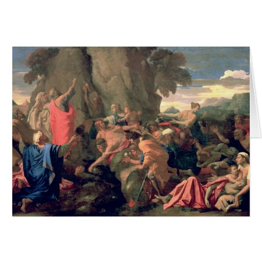 Moses Striking Water from the Rock, 1649 Greeting Card