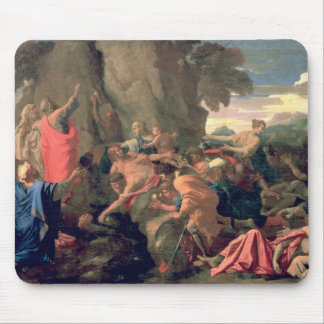 Moses Striking Water from the Rock, 1649 Mouse Pad