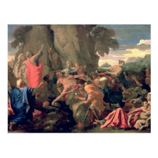 Moses Striking Water from the Rock, 1649 Postcard