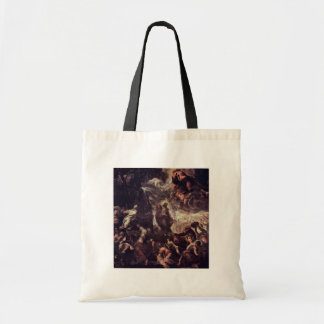 Moses Striking Water From The Rock By Tintoretto J Canvas Bags