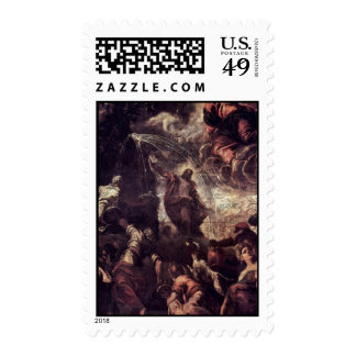 Moses Striking Water From The Rock By Tintoretto J Postage Stamps