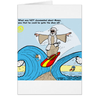 Moses Surfs Funny Cartoon Tees Gifts Collectibles Card