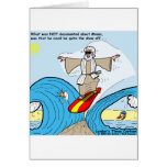 Moses Surfs Funny Cartoon Tees Gifts Collectibles Greeting Card