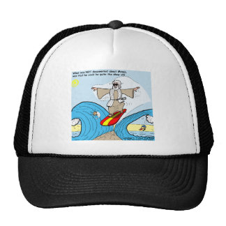 Moses Surfs Funny Cartoon Tees Gifts Collectibles Trucker Hat