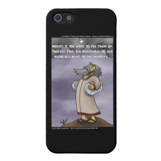 Moses & The 10 Twitter Hashtags Funny Cover For iPhone SE/5/5s