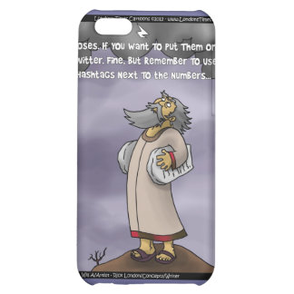 Moses & The 10 Twitter Hashtags Funny Gifts &  iPhone 5C Cover