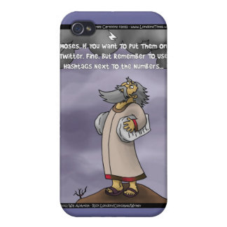 Moses & The 10 Twitter Hashtags Funny Gifts &  iPhone 4/4S Case