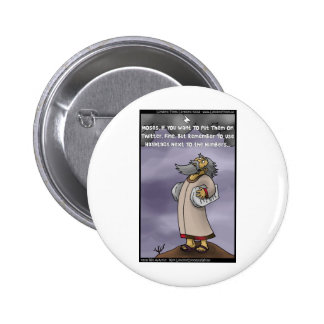 Moses & The 10 Twitter Hashtags Funny Gifts & Tees Button