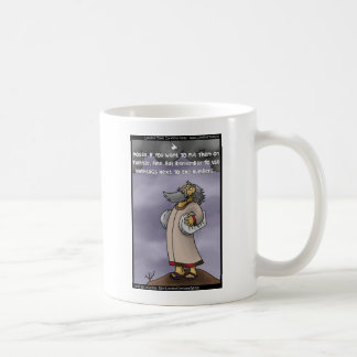 Moses & The 10 Twitter Hashtags Funny Gifts & Tees Classic White Coffee Mug