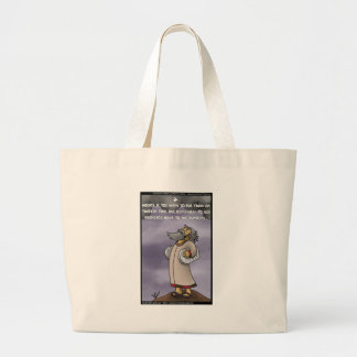 Moses & The 10 Twitter Hashtags Funny Gifts & Tees Large Tote Bag