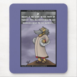 Moses & The 10 Twitter Hashtags Funny Gifts & Tees Mouse Pad