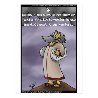 Moses & The 10 Twitter Hashtags Funny Gifts & Tees Postcard