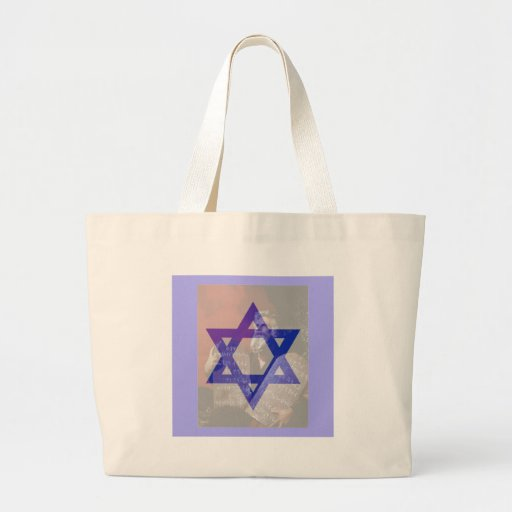 Moses, the Tablets and the Star of David. Jumbo Tote Bag