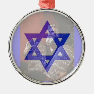 Moses, the Tablets and the Star of David. Metal Ornament
