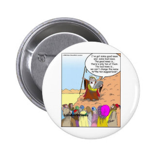 Moses & The Ten Suggestions Funny Gifts & Tees Button