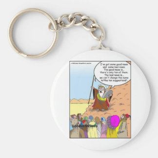 Moses & The Ten Suggestions Funny Gifts & Tees Basic Round Button Keychain