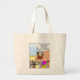Moses & The Ten Suggestions Funny Gifts & Tees Large Tote Bag