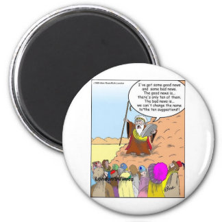 Moses & The Ten Suggestions Funny Gifts & Tees Magnet