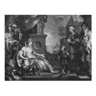 Moses trajo a la hija de Pharoah, c.1752 Tarjeta Postal