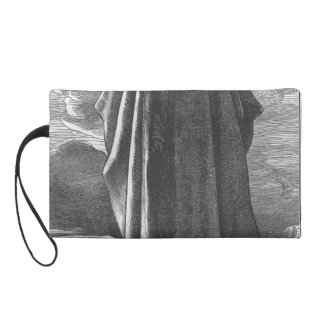 Moses views the Promised Land by Frederic Leighton Wristlet Purses