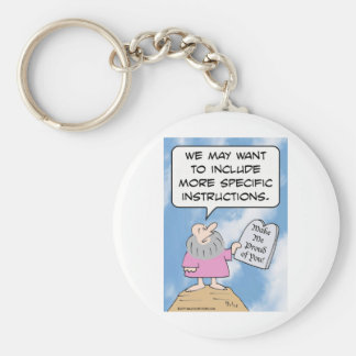 Moses wants commandments to be more specific keychain