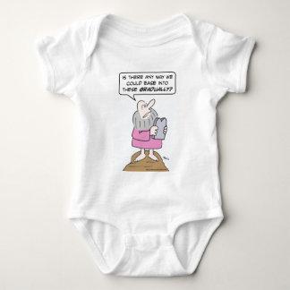 Moses wants to ease into ten commandments graduall baby bodysuit