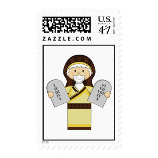 Moses with Ten Commandments Postage