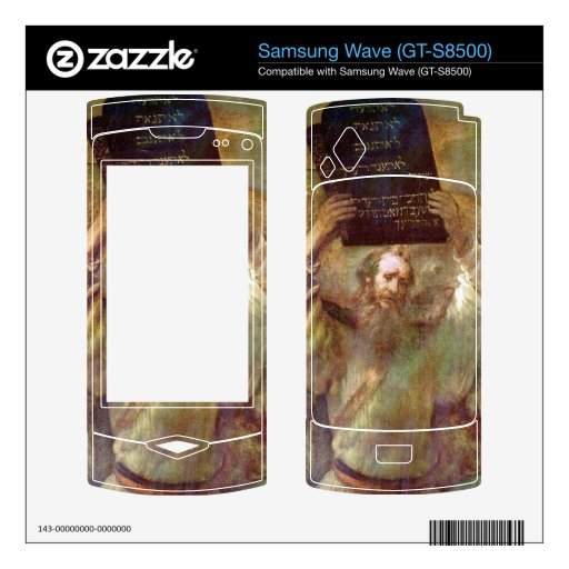 Moses with the commandments by Rembrandt Samsung Wave Decals