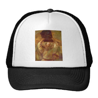Moses with the Tablets of the Law by Rembrandt Mesh Hats