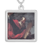Moses with the Tablets of the Law Square Pendant Necklace