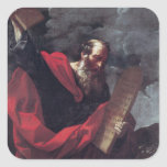 Moses with the Tablets of the Law Square Sticker