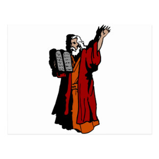 Moses y diez mandamientos postal